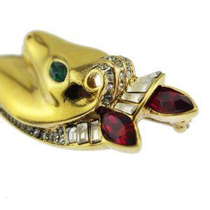 Coro Jewelry - Rare Coro Gold and Rhinestone Horse Brooch